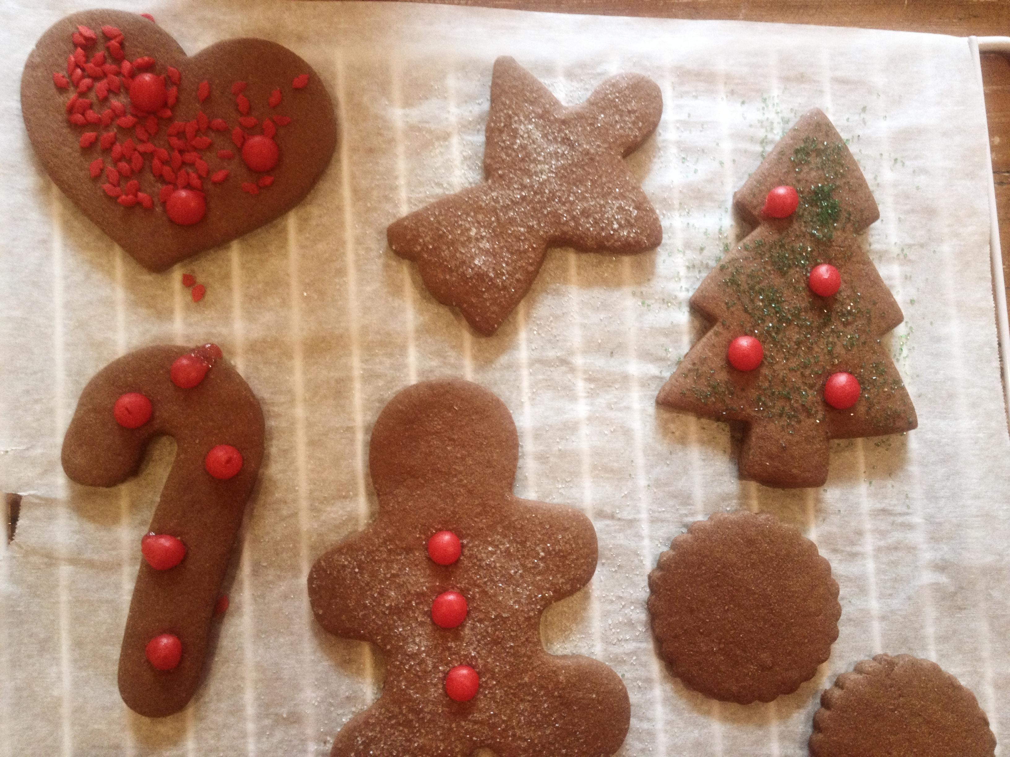 Chocolate cookies en papillote (sort of)