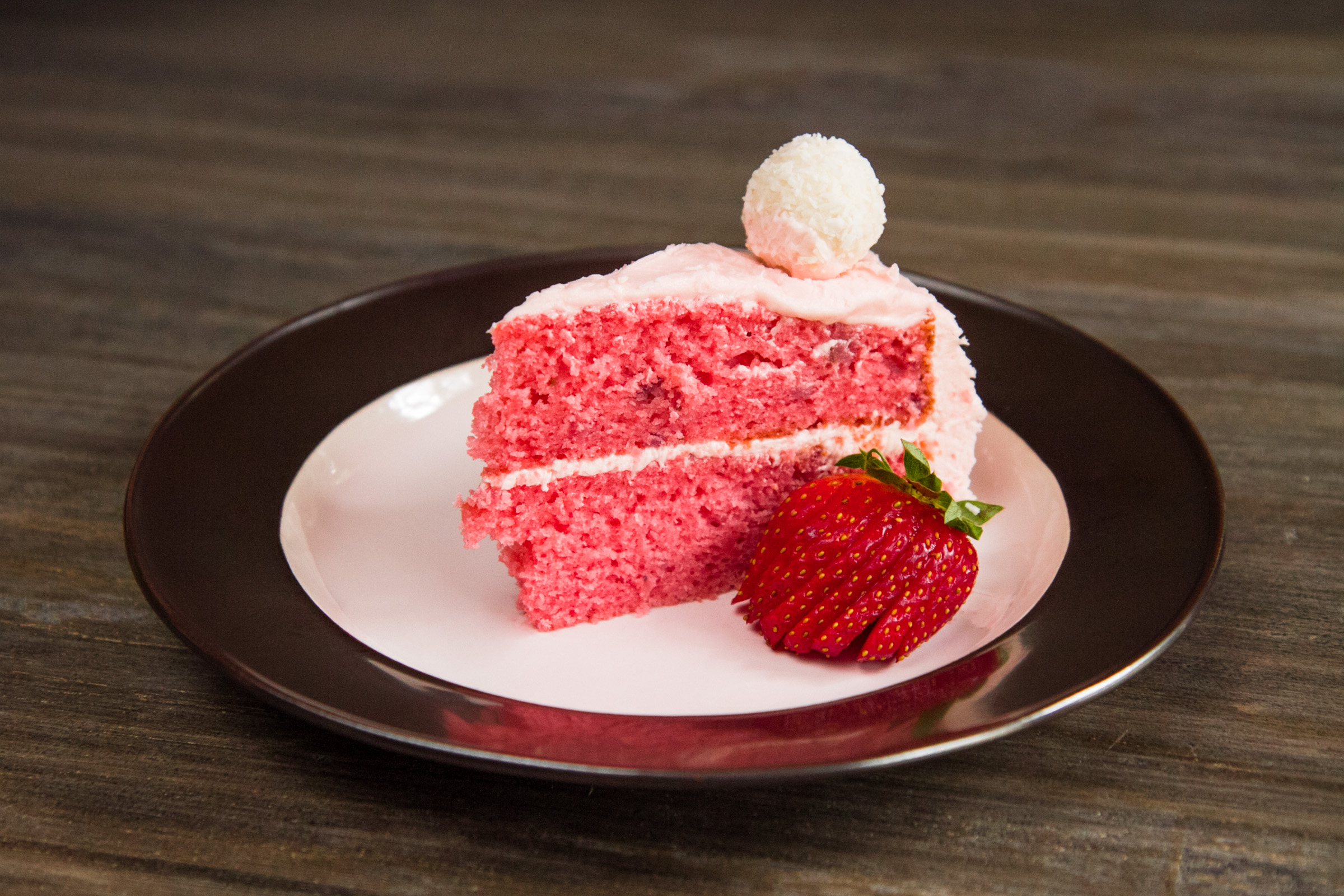 A slice of strawberry