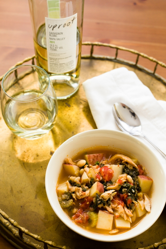 Kale Soup with White Wine